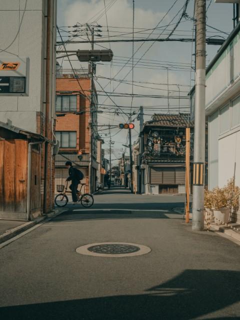 Radfahren in Japan Strasse