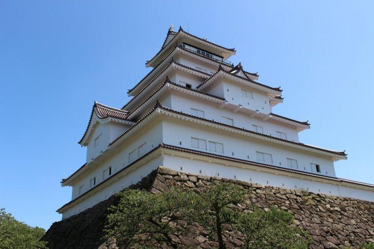 Die Burg Tsuruga in Fukushima spielte eine wichtige Rolle in der Geschichte Japans.
