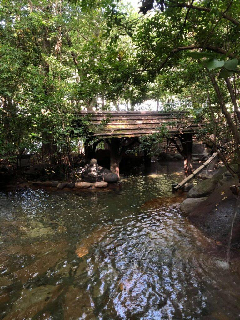 Viele der Onsen Quellen sind sehr naturbelassen und idyllisch.