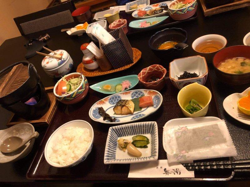 Frühstück auf traditionell japanische Art.