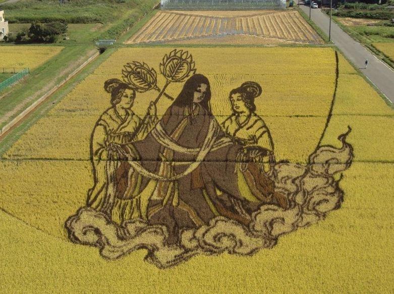 Reisfeldkunst in Inakadate, Aomori.