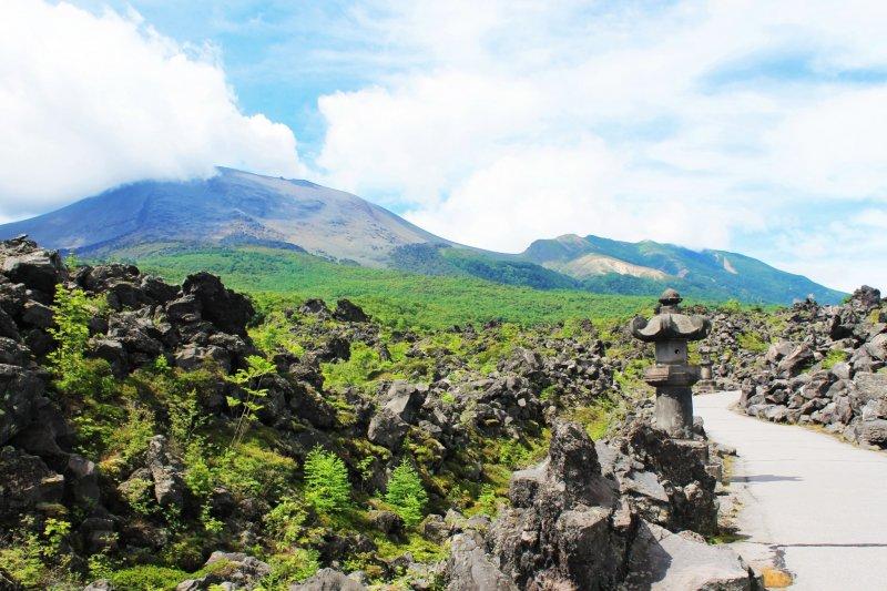 Der Onioshidashi Vulkanpark bietet eine der schönsten Landschaften Gunmas.