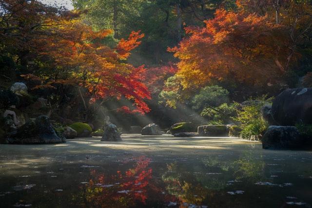 Der Tokumeien Zen Garden in Gunma zeigt die atemberaubende Natur der Präfektur.
