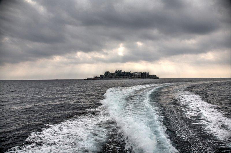 Die Insel Hashima alias Gunkanjima in Nagasaki.