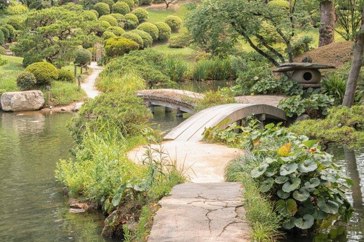 Der Shukkei-en Garten in Hiroshima Stadt.
