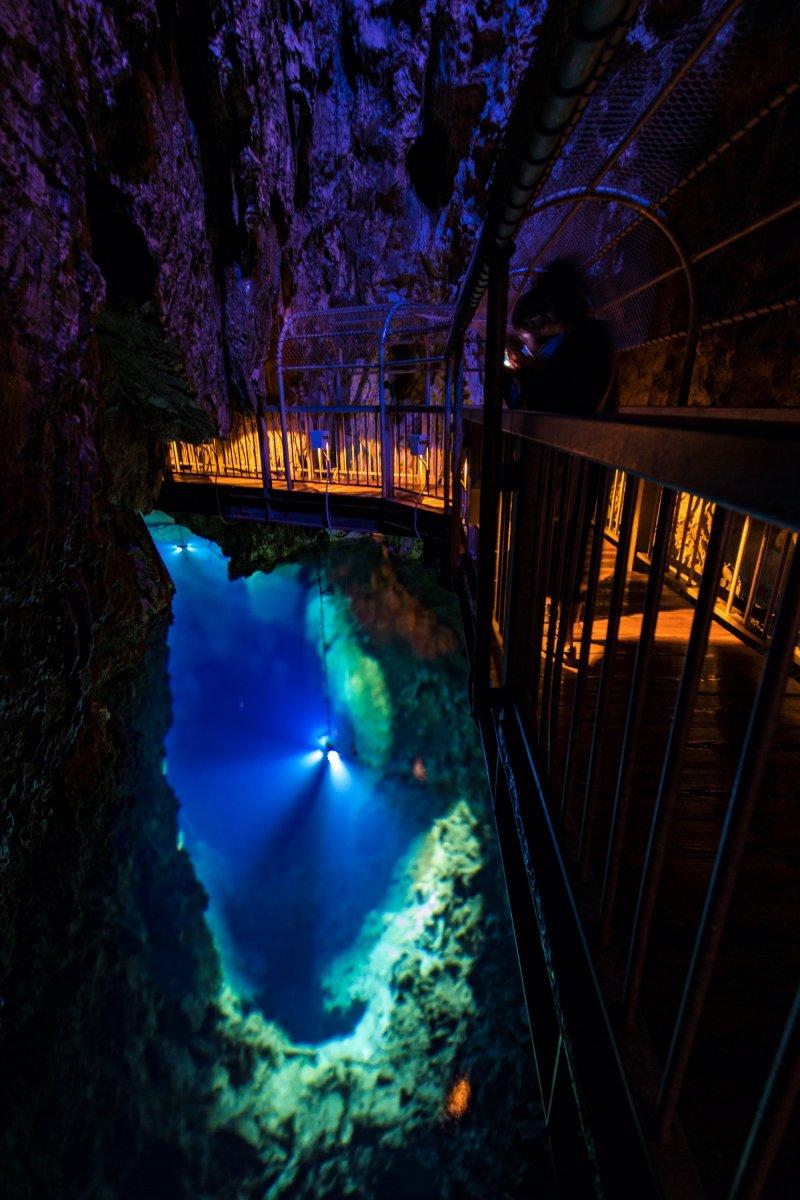 Einblick in die Ryusendo Höhle.