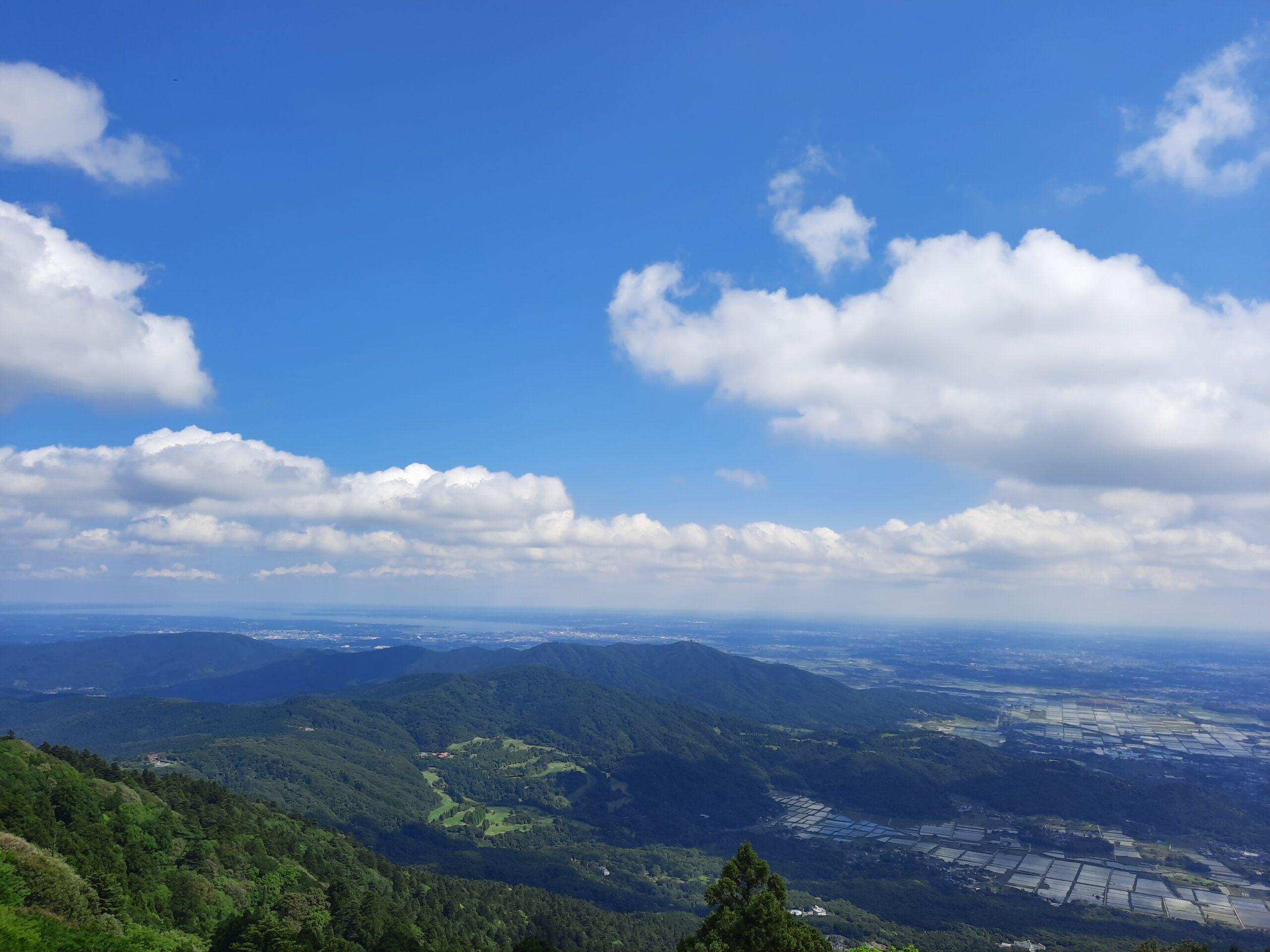 Aussicht vom Berg Tsukuba auf die Kanto Ebene