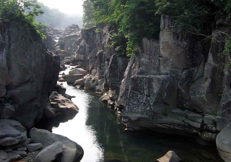 Die malerische Genbikei Schlucht in Iwate.