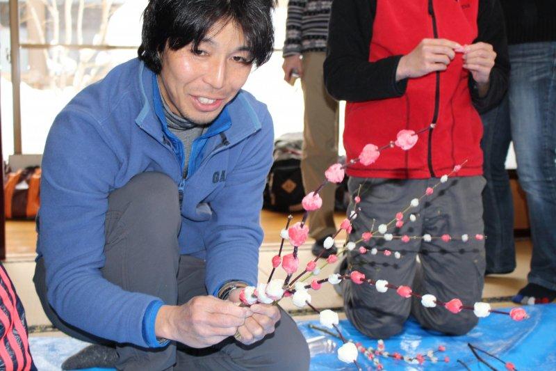 Die fertigen Hanamochi können als Souvenir mit nach Hause genommen werden.