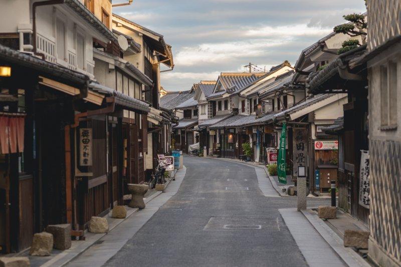 Die Straßen in Kurashiki haben viel Charme.
