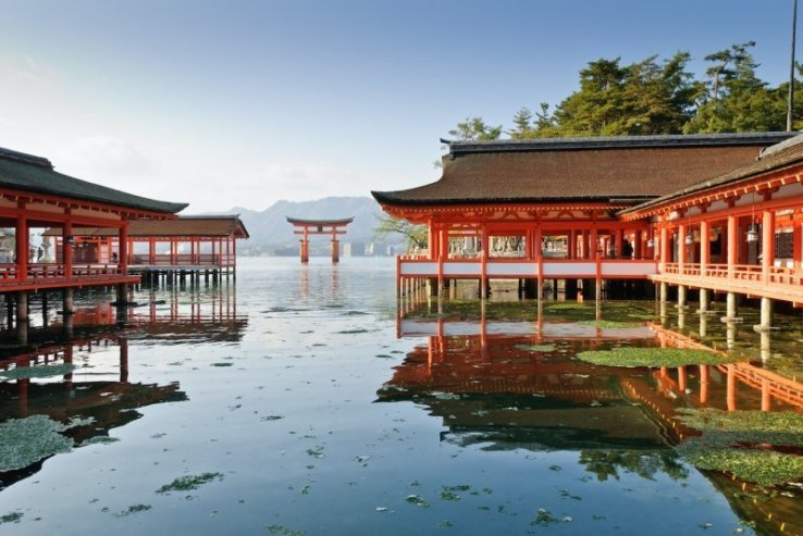 Der schwimmende Schrein auf der Insel Miyajima.