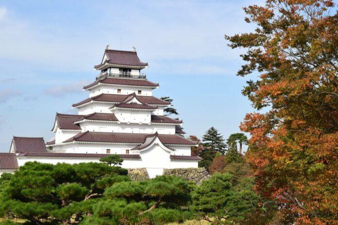Burg Tsuruga in Aizuwakamatsu, Fukushima.