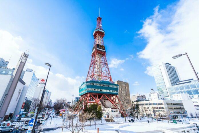 Sapporo Fernsehturm in Hokkaido.
