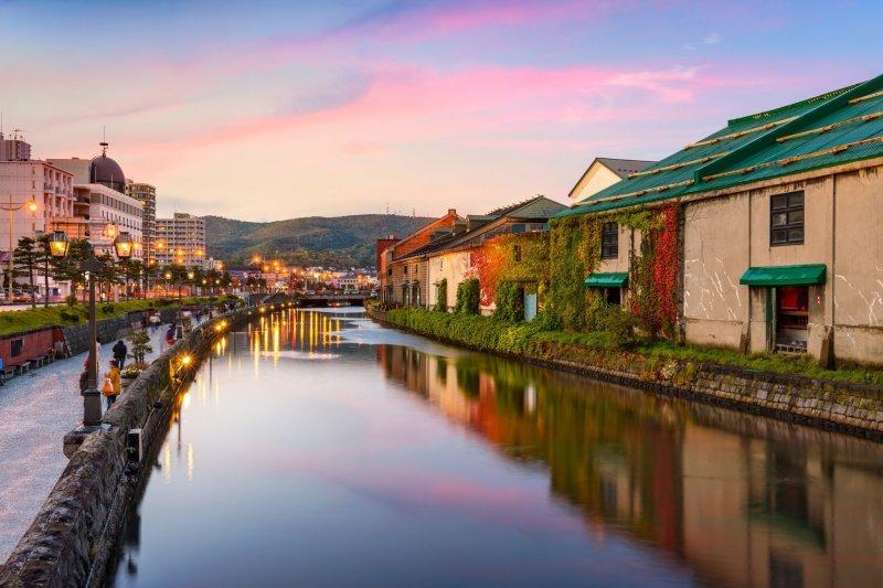 Der malerische Otaru Kanal in Hokkaido.