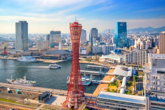Der Kobe Port Tower in Hyogo.