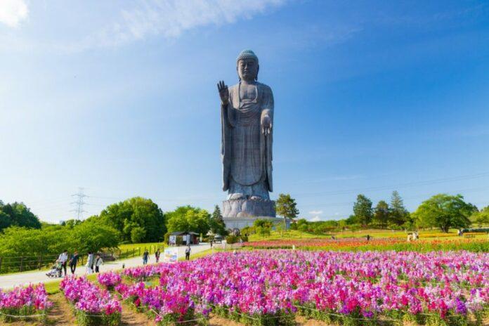 Ushiku Daibutsu Buddha in Ibaraki.