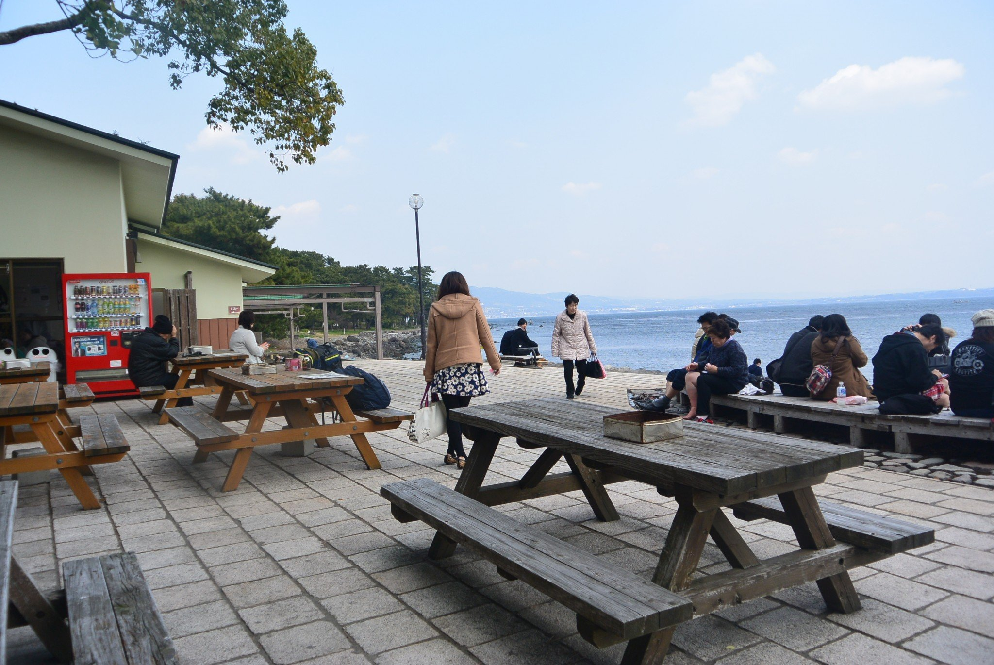 Warten auf das Sandbad in Beppu.