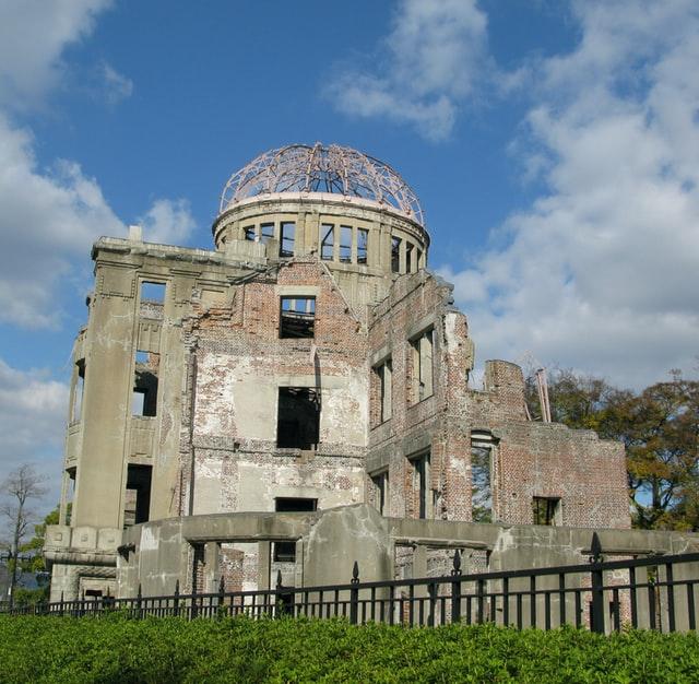 Die namensgebende Kuppelstruktur des Friedensdenkmals in Hiroshima.