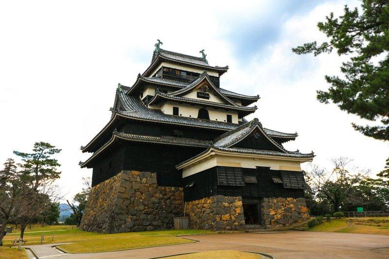 Die Burg Matsue in Shimane.