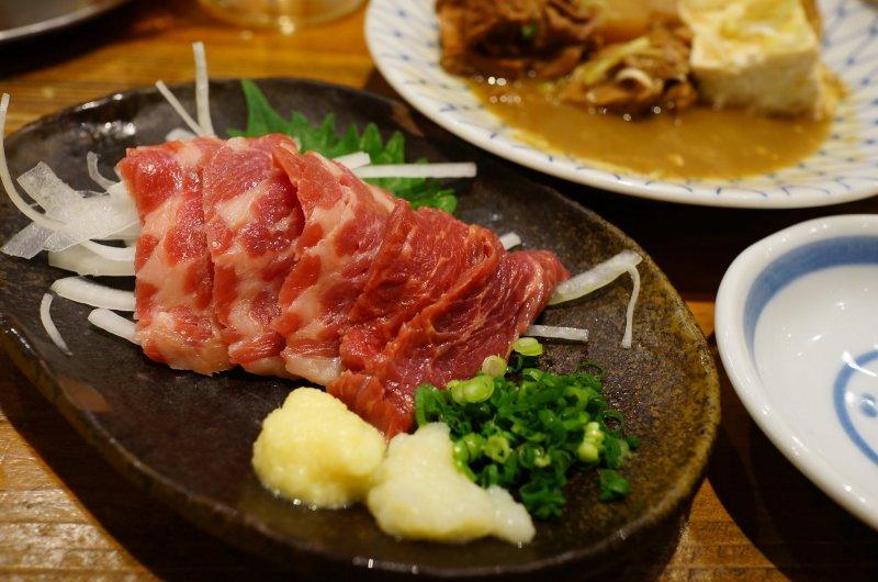 Basashi in Kumamoto, Kyushu.