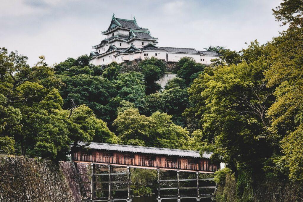 Die Burg Wakayama.