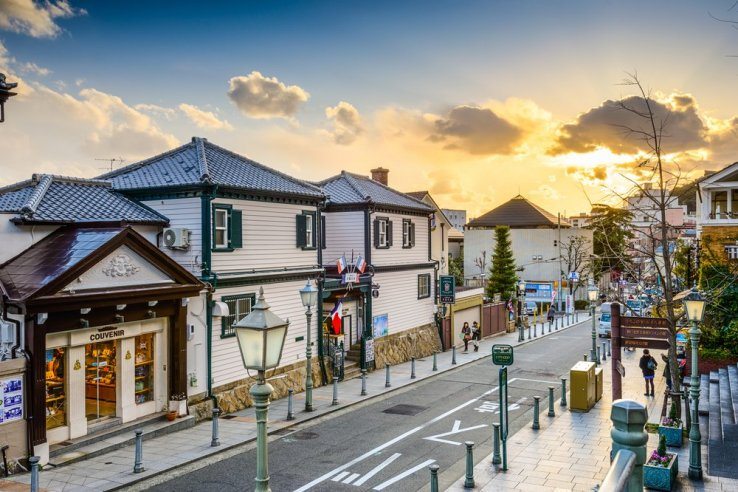 Eine Reise in die Vergangenheit in Kitano Ijinkan, Hyogo.