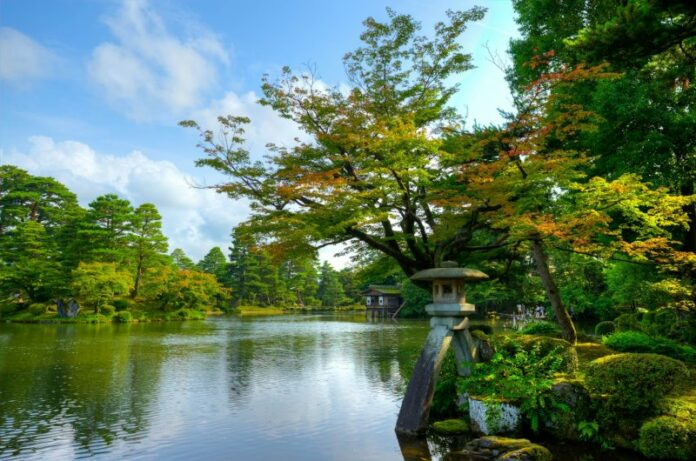 Kenrokuen Garten in Kanazawa.