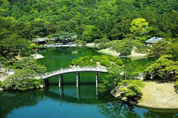 Risturin Park in Takamatsu.