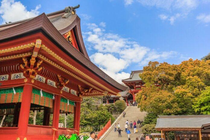 Tsurugaoka Hachimangu Schrein in Kamakura, Kanagawa.