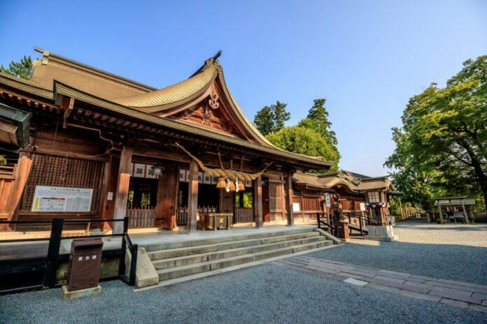 Aso Schrein in Kumamoto.