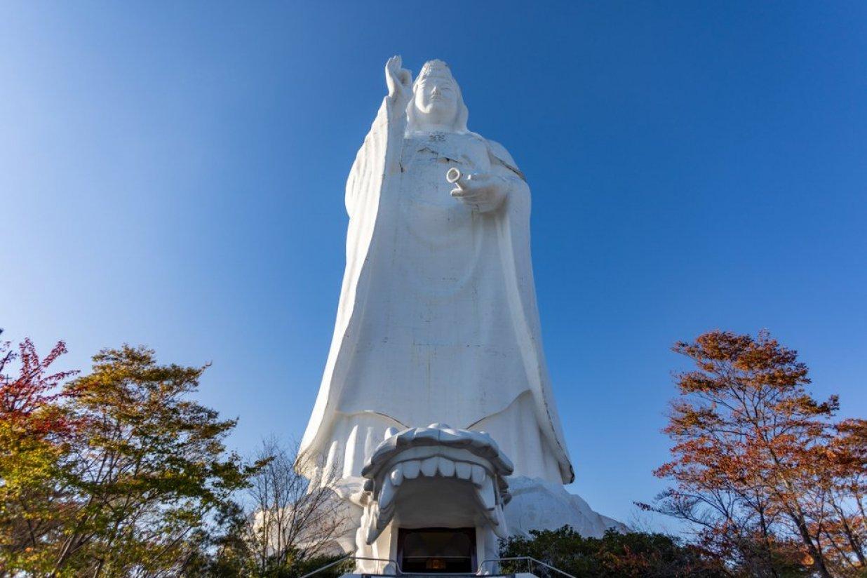 Sendai Daikannon Statue in Miyagi.