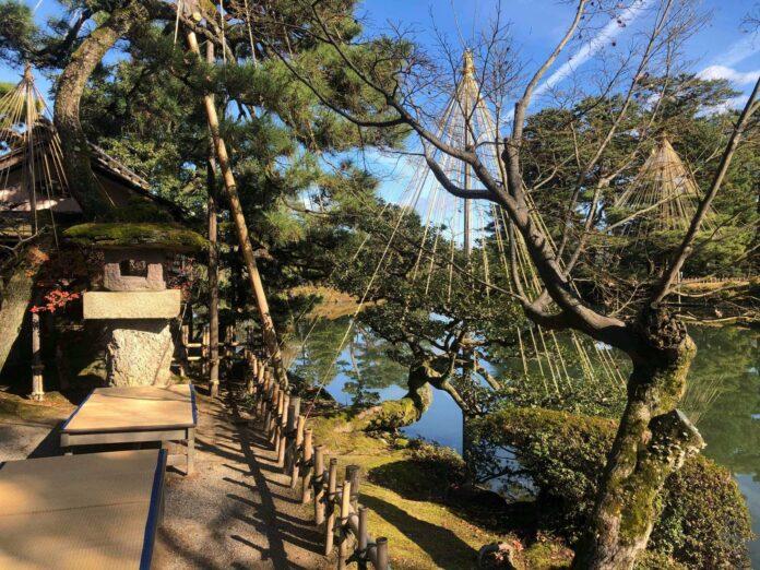 Der Kenrokuen Garten in Kanazawa gilt als perfekter Landschaftsgarten.