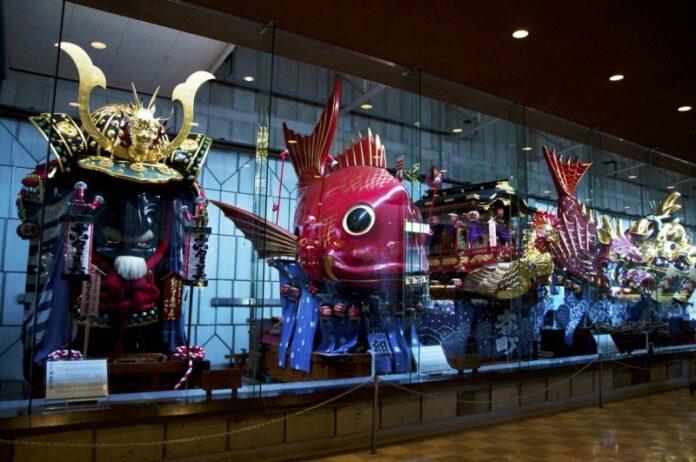 Die Hikiyama Flöße werden hier das ganze Jahr über ausgestellt.