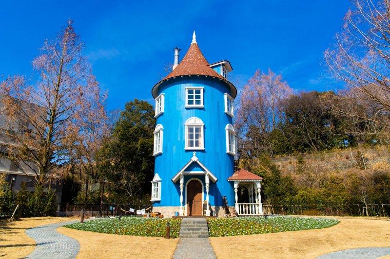 Die skandinavische Architektur entführt in die Welt der Mumins.