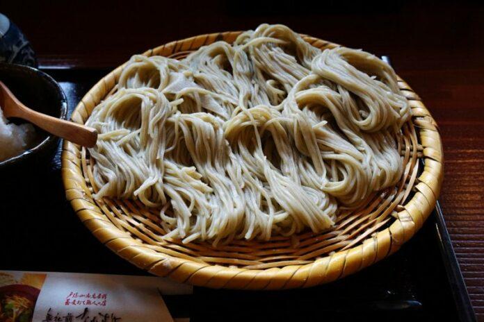 Soba Nudeln aus Buchweizen findet man vielfach in der Region Chubu.