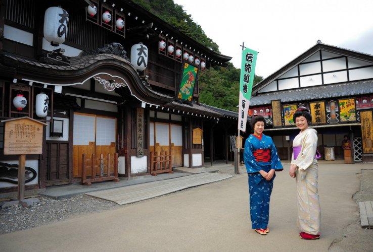 Traditionelle Kleidung im Edo Wonderland