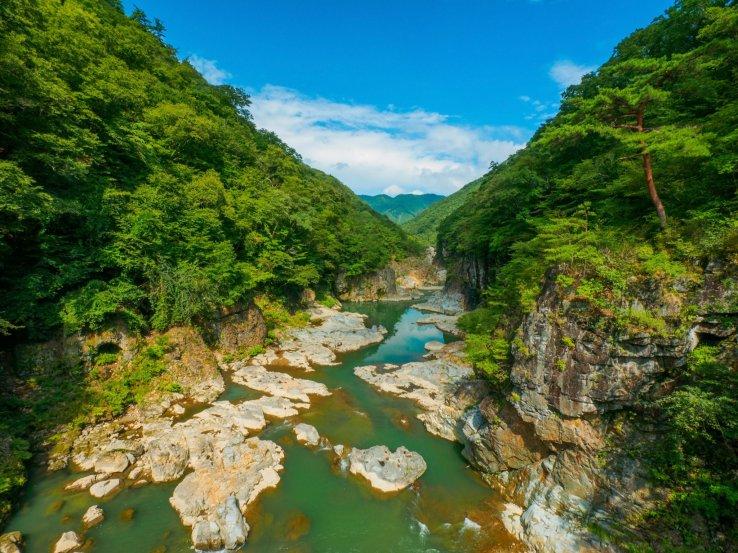 Ryuokyo Schlucht im Nikko National Park