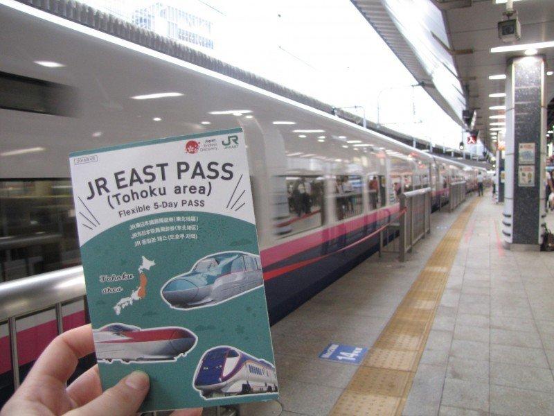 JR East Pass für die Region Tohoku.