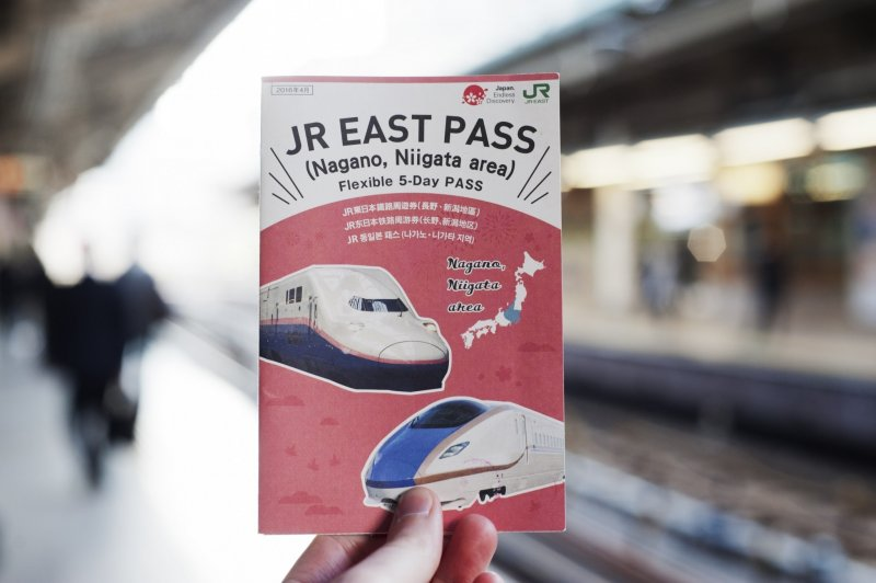 Der JR East Pass für Nagano und Niigata.