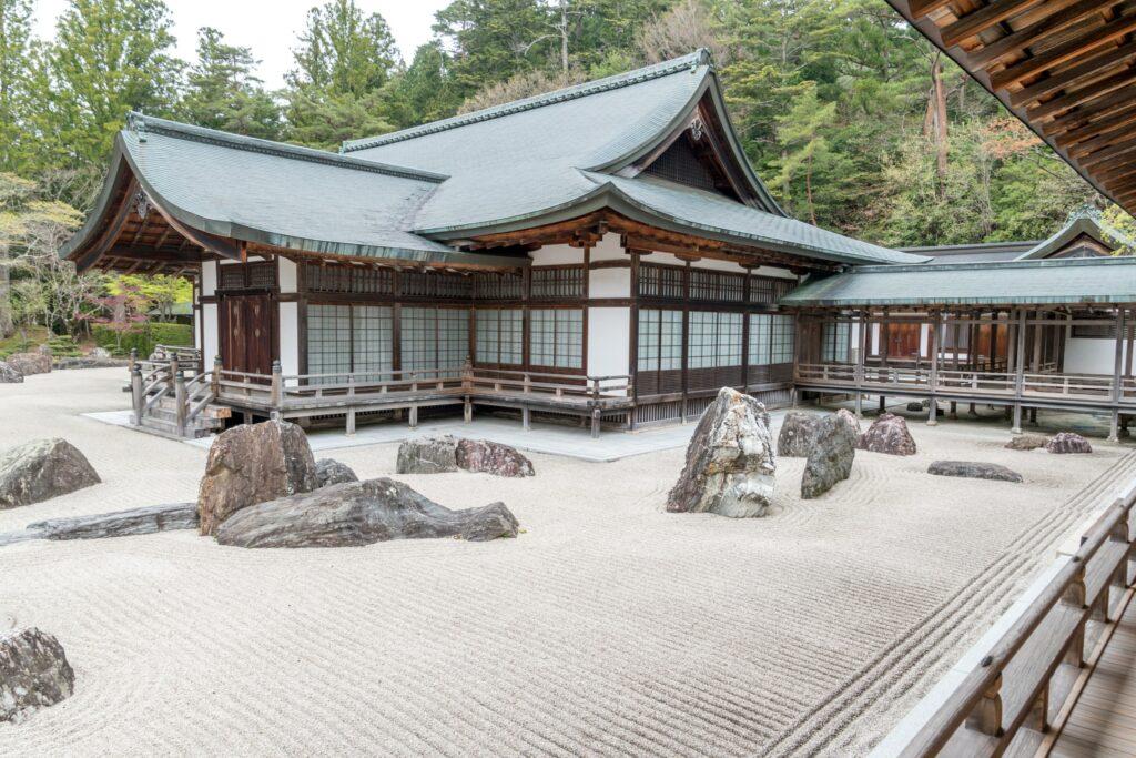 Banryutei-Steingarten, Teil des Kongobu-ji Haupttempels, Wakayama