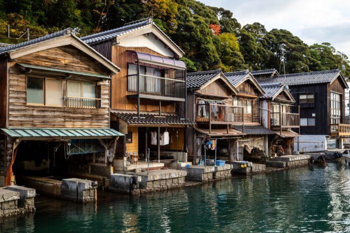 Fischerhütten in Ine, Kyoto.