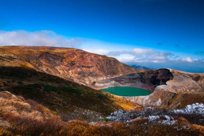 Okama Krater am Berg Zao (Yamagata/ Miyagi).